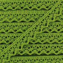 Ruban Dentelle au fuseau 10mm - vert clair x 50cm