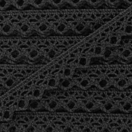 Ruban Dentelle au fuseau 10mm - noir x 50cm