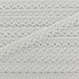 Ruban Dentelle au fuseau 10mm - blanc x 50cm
