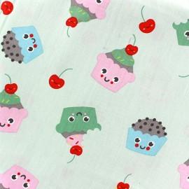 Tissu coton Sweet Cakes - vert clair x 10cm