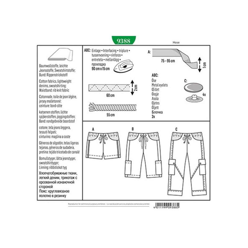 Pants Pattern Burda n°9388 - Ma Petite Mercerie