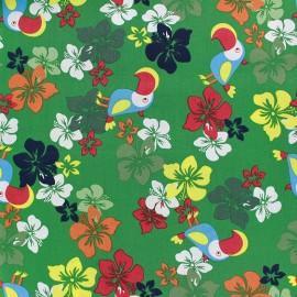 Tissu coton Tropical - vert x 10cm
