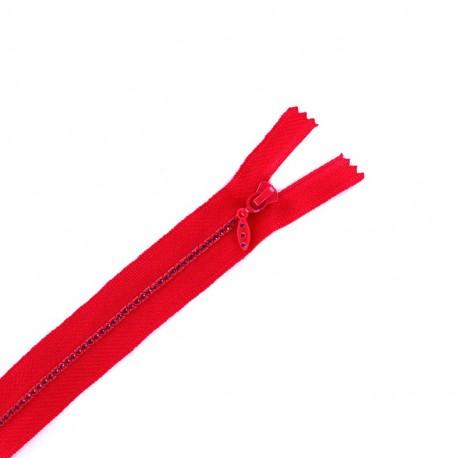 Non separable Strass zipper - candy pink