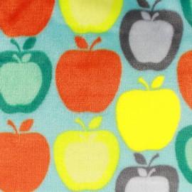 Tissu Doudou Apple remix - ciel x 10cm
