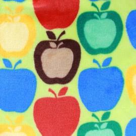 Tissu Doudou Apple remix - anis x 10cm