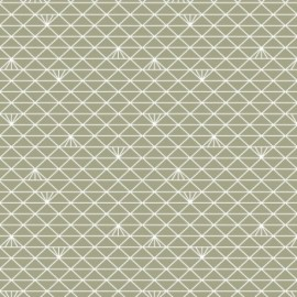 Tissu percale Triangle - lichen glacé x 10 cm