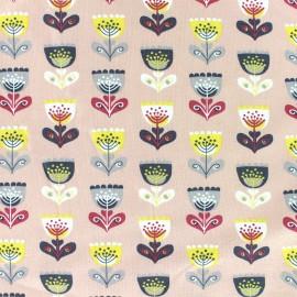 * Coupon 40 cm X 140 cm *  Tissu jersey Tulip remix - rose