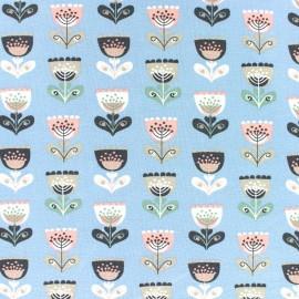 Tissu jersey Tulip remix - bleu clair x 10cm