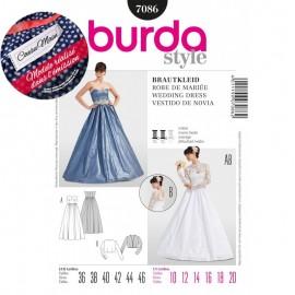 Patron Robe de mariée Burda n°7086