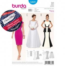 Patron Robe Burda n°6868