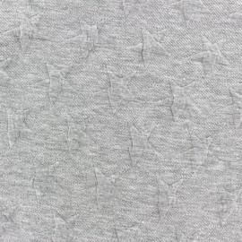 ♥ Coupon 300 cm X 140 cm ♥ Tissu jacquard jersey Stars - gris clair