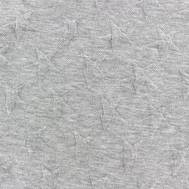 Tissu jacquard jersey Stars - gris clair x 10cm