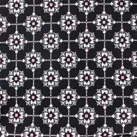 ♥ Coupon 40 cm X 130 cm ♥  Stretch jacquard fabric Roma
