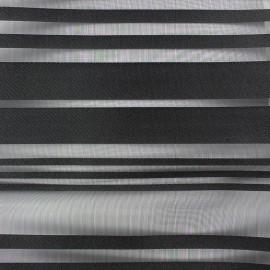 Striped organza Fabric - black x 32cm