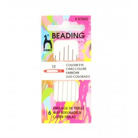 Clover Beading needles n°12 - red eye