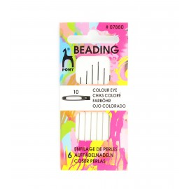 Clover Beading needles n°10 - black eye