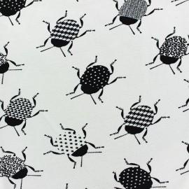 Poppy jersey fabric Crispy Crickets - ecru x 10cm