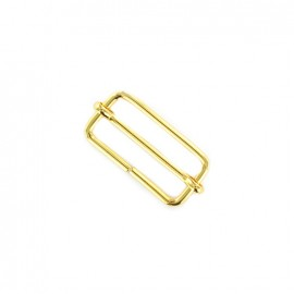 Sliding bar adjuster buckle - gold