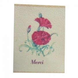 Carnation iron-on applique - red
