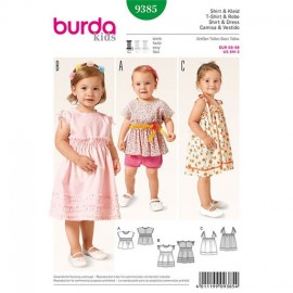 Patron T-shirt et Robe Burda Kids n°9385