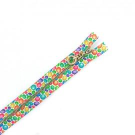 Fermeture à glissière métal non séparable bubbles