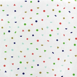 Rico Design Fabric Confetti - white/blue x 10cm