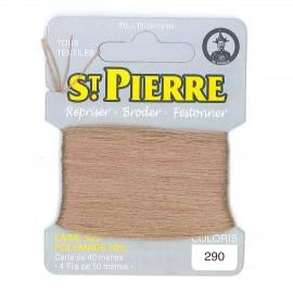 Laine Saint Pierre pour repriser / broder - sable n°290
