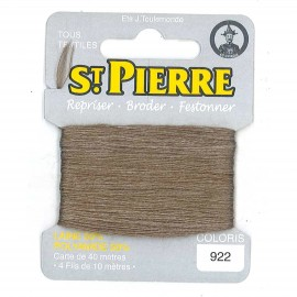 Laine Saint Pierre 40 M card Darning / embroidery - 922 Bark
