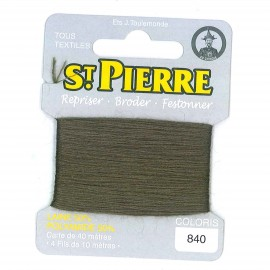 Laine Saint Pierre 40 M card Darning / embroidery - 840 Army green