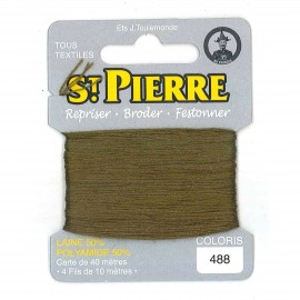 Laine Saint Pierre 40 M card Darning / embroidery - 488 Khaki