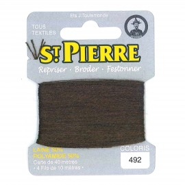 Laine Saint Pierre pour repriser / broder - marron n°492