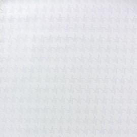 Devoured fabric Pied de Poule - white x 10cm