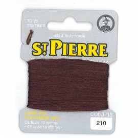Laine Saint Pierre 40 M card Darning / embroidery - 210 Otter