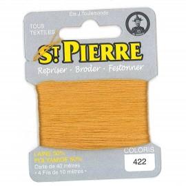 Laine Saint Pierre pour repriser / broder - moutarde n°422