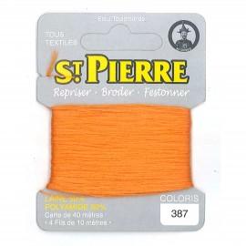 Laine Saint Pierre pour repriser / broder - mandarine n°387