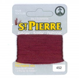 Laine Saint Pierre 40 M card Darning / embroidery - 452 Garnet