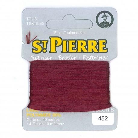Laine Saint Pierre 40 M card Darning / embroidery - 452 Garnet