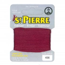 Laine Saint Pierre pour repriser / broder - bordeaux n°456