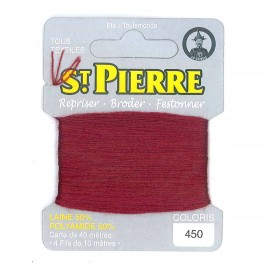 Laine Saint Pierre 40 M card Darning / embroidery - 450 Copper
