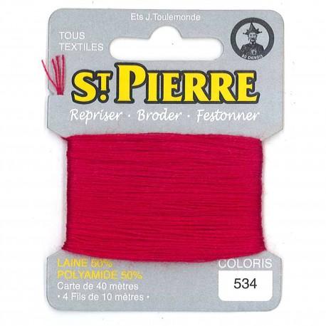 Laine Saint Pierre pour repriser / broder - vermillon n°534