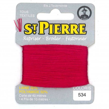 Laine Saint Pierre 40 M card Darning / embroidery - 532 Raspberry