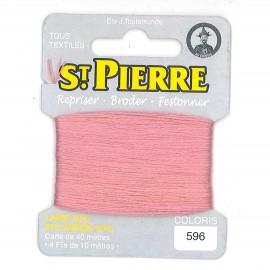 Laine Saint Pierre pour repriser / broder - bois de rose n°596