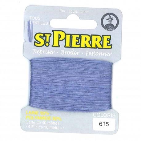 Laine Saint Pierre pour repriser / broder - lupin n°615