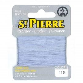 Laine Saint Pierre pour repriser / broder - gris clair n°116