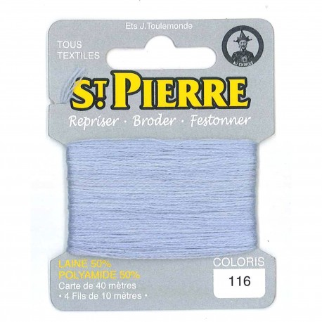 Laine Saint Pierre 40 M card Darning / embroidery - 116 Light grey