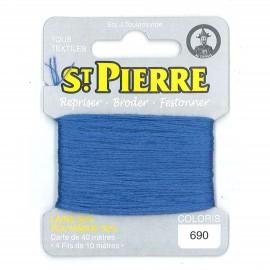 Laine Saint Pierre pour repriser / broder - lavande n°690