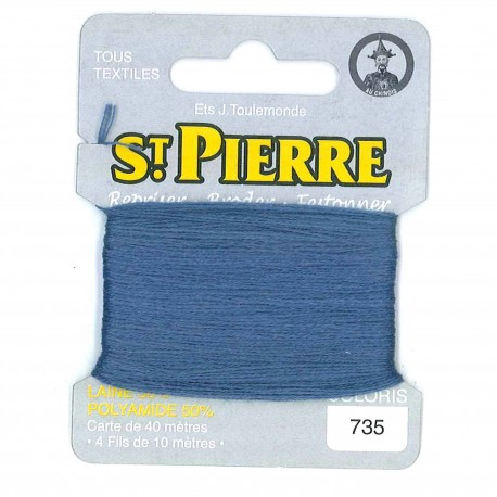 Laine Saint Pierre 40 M card Darning / embroidery - 735 Enamel blue