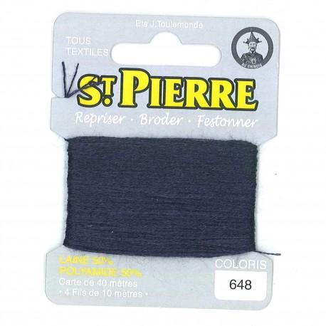 Laine Saint Pierre pour repriser / broder - Marine n°648