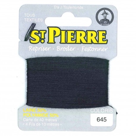 Laine Saint Pierre 40 M card Darning / embroidery - 645 Dark navy