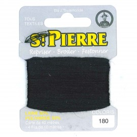 Laine Saint Pierre 40 M card Darning / embroidery - 180 Black